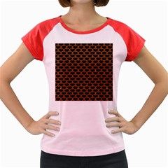SCALES3 BLACK MARBLE & RUSTED METAL (R) Women s Cap Sleeve T-Shirt
