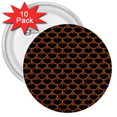 SCALES3 BLACK MARBLE & RUSTED METAL (R) 3  Buttons (10 pack)