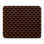 SCALES3 BLACK MARBLE & RUSTED METAL (R) Large Mousepads Front
