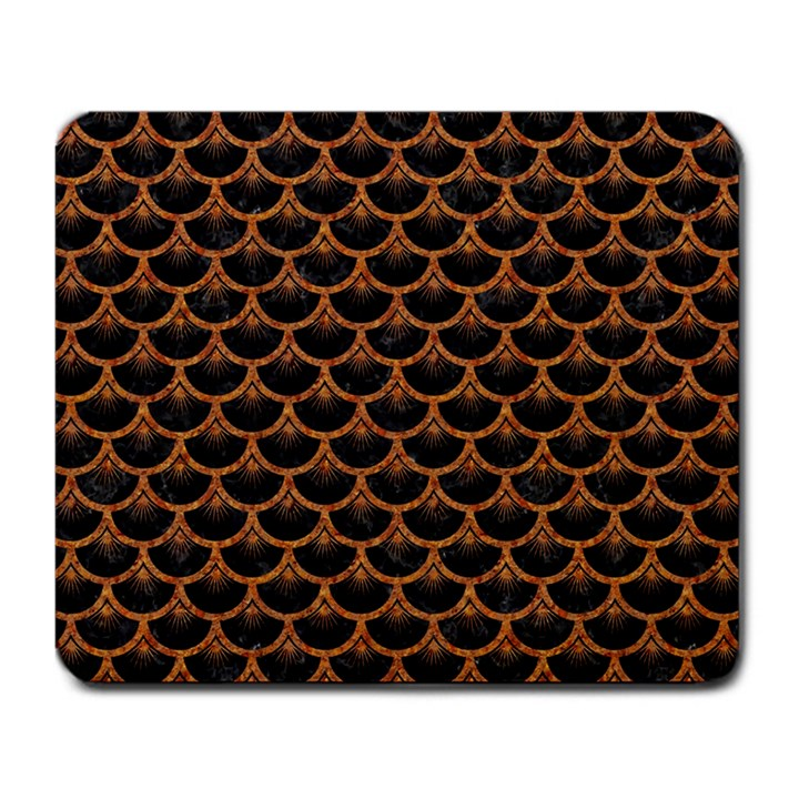 SCALES3 BLACK MARBLE & RUSTED METAL (R) Large Mousepads