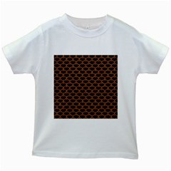 SCALES3 BLACK MARBLE & RUSTED METAL (R) Kids White T-Shirts