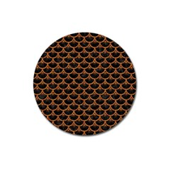 SCALES3 BLACK MARBLE & RUSTED METAL (R) Magnet 3  (Round)