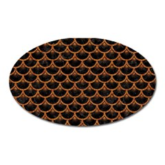 Scales3 Black Marble & Rusted Metal (r) Oval Magnet by trendistuff