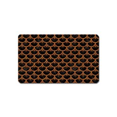 Scales3 Black Marble & Rusted Metal (r) Magnet (name Card) by trendistuff
