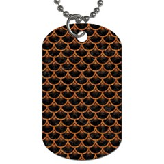 Scales3 Black Marble & Rusted Metal (r) Dog Tag (one Side) by trendistuff