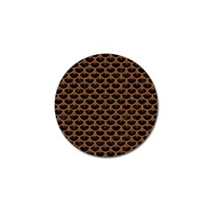 SCALES3 BLACK MARBLE & RUSTED METAL (R) Golf Ball Marker (4 pack)