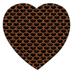 SCALES3 BLACK MARBLE & RUSTED METAL (R) Jigsaw Puzzle (Heart)