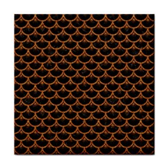 Scales3 Black Marble & Rusted Metal (r) Face Towel