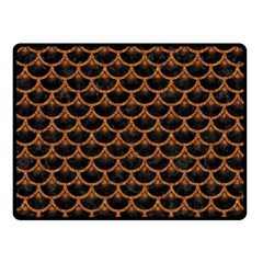SCALES3 BLACK MARBLE & RUSTED METAL (R) Fleece Blanket (Small)