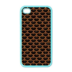 SCALES3 BLACK MARBLE & RUSTED METAL (R) Apple iPhone 4 Case (Color)