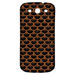 SCALES3 BLACK MARBLE & RUSTED METAL (R) Samsung Galaxy S3 S III Classic Hardshell Back Case