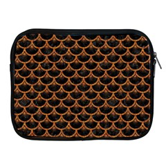 SCALES3 BLACK MARBLE & RUSTED METAL (R) Apple iPad 2/3/4 Zipper Cases