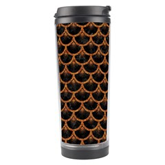 Scales3 Black Marble & Rusted Metal (r) Travel Tumbler by trendistuff