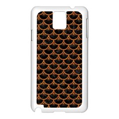 Scales3 Black Marble & Rusted Metal (r) Samsung Galaxy Note 3 N9005 Case (white) by trendistuff