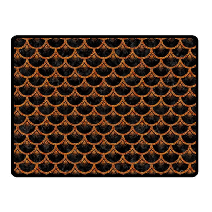 SCALES3 BLACK MARBLE & RUSTED METAL (R) Double Sided Fleece Blanket (Small)