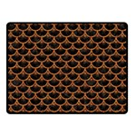SCALES3 BLACK MARBLE & RUSTED METAL (R) Double Sided Fleece Blanket (Small)  45 x34 Blanket Back