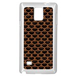 SCALES3 BLACK MARBLE & RUSTED METAL (R) Samsung Galaxy Note 4 Case (White) Front
