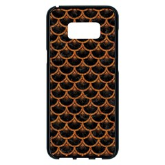 SCALES3 BLACK MARBLE & RUSTED METAL (R) Samsung Galaxy S8 Plus Black Seamless Case