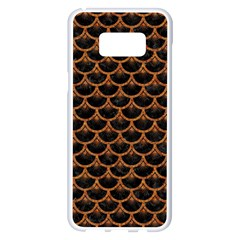 SCALES3 BLACK MARBLE & RUSTED METAL (R) Samsung Galaxy S8 Plus White Seamless Case