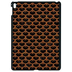 SCALES3 BLACK MARBLE & RUSTED METAL (R) Apple iPad Pro 9.7   Black Seamless Case