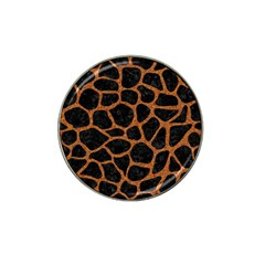 Skin1 Black Marble & Rusted Metal Hat Clip Ball Marker (4 Pack) by trendistuff