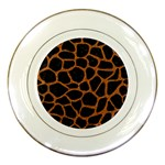SKIN1 BLACK MARBLE & RUSTED METAL Porcelain Plates Front
