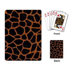 Skin1 Black Marble & Rusted Metal Playing Card