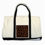SKIN1 BLACK MARBLE & RUSTED METAL Two Tone Tote Bag Front