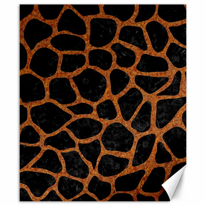 SKIN1 BLACK MARBLE & RUSTED METAL Canvas 20  x 24