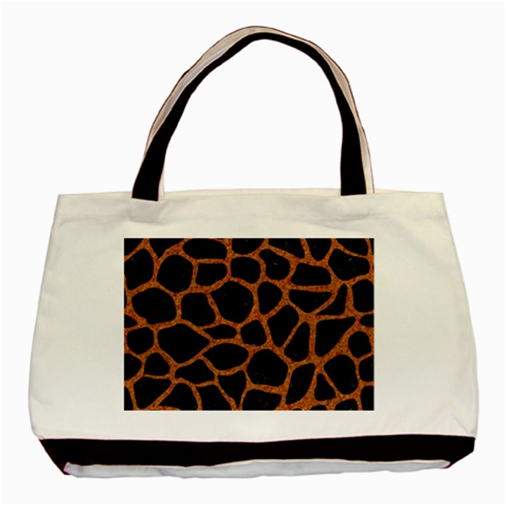 SKIN1 BLACK MARBLE & RUSTED METAL Basic Tote Bag (Two Sides)