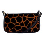 SKIN1 BLACK MARBLE & RUSTED METAL Shoulder Clutch Bags Front