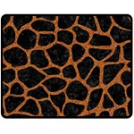 SKIN1 BLACK MARBLE & RUSTED METAL Fleece Blanket (Medium)  60 x50 Blanket Front