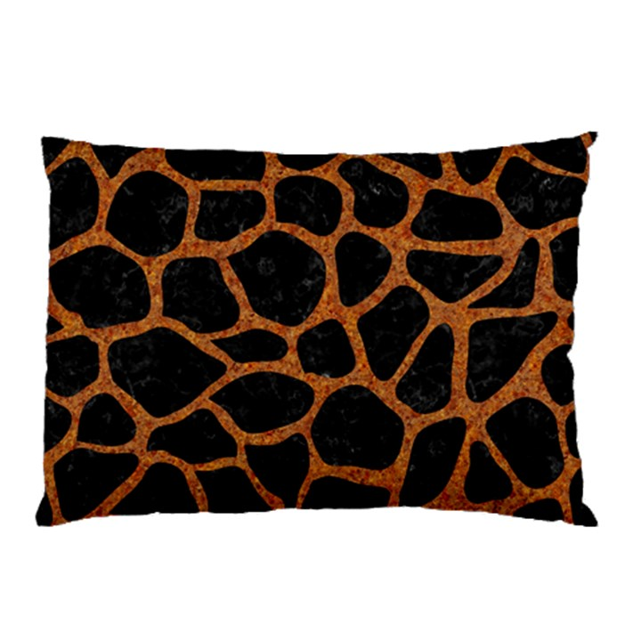 SKIN1 BLACK MARBLE & RUSTED METAL Pillow Case (Two Sides)