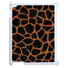 Skin1 Black Marble & Rusted Metal Apple Ipad 2 Case (white) by trendistuff