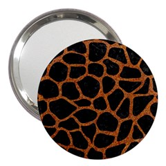 Skin1 Black Marble & Rusted Metal 3  Handbag Mirrors