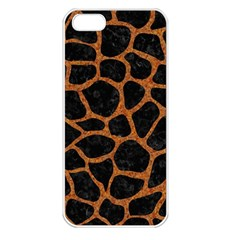 Skin1 Black Marble & Rusted Metal Apple Iphone 5 Seamless Case (white) by trendistuff