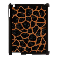 Skin1 Black Marble & Rusted Metal Apple Ipad 3/4 Case (black) by trendistuff
