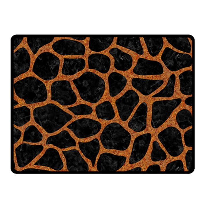 SKIN1 BLACK MARBLE & RUSTED METAL Double Sided Fleece Blanket (Small)