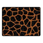 SKIN1 BLACK MARBLE & RUSTED METAL Double Sided Fleece Blanket (Small)  45 x34 Blanket Back