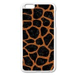 SKIN1 BLACK MARBLE & RUSTED METAL Apple iPhone 6 Plus/6S Plus Enamel White Case Front
