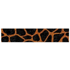 Skin1 Black Marble & Rusted Metal Flano Scarf (small) by trendistuff