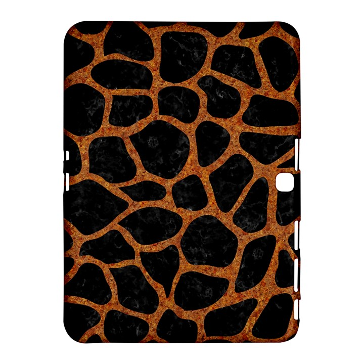 SKIN1 BLACK MARBLE & RUSTED METAL Samsung Galaxy Tab 4 (10.1 ) Hardshell Case