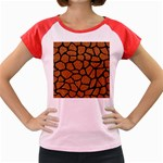 SKIN1 BLACK MARBLE & RUSTED METAL (R) Women s Cap Sleeve T-Shirt Front