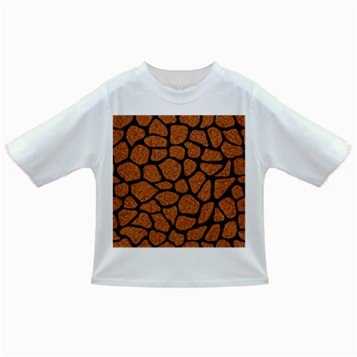 SKIN1 BLACK MARBLE & RUSTED METAL (R) Infant/Toddler T-Shirts