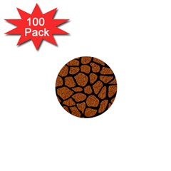 Skin1 Black Marble & Rusted Metal (r) 1  Mini Buttons (100 Pack)  by trendistuff