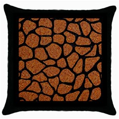 Skin1 Black Marble & Rusted Metal (r) Throw Pillow Case (black)