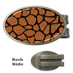 SKIN1 BLACK MARBLE & RUSTED METAL (R) Money Clips (Oval)  Front