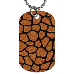 Skin1 Black Marble & Rusted Metal (r) Dog Tag (two Sides)