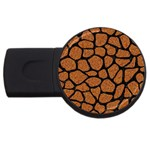 SKIN1 BLACK MARBLE & RUSTED METAL (R) USB Flash Drive Round (2 GB) Front