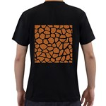 SKIN1 BLACK MARBLE & RUSTED METAL (R) Men s T-Shirt (Black) (Two Sided) Back